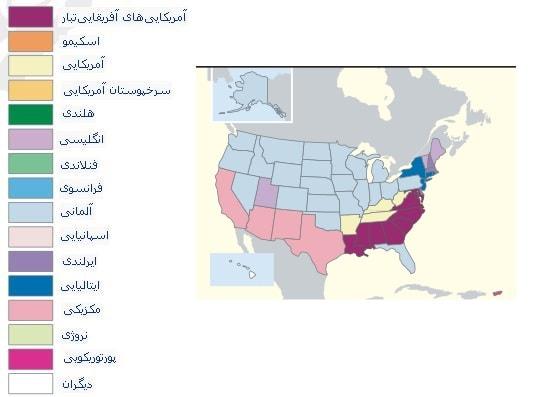نژاد و تبار اقوام در کشور آمریکا